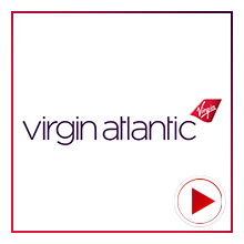 Virgin Atlantic Airline Logo for the time-lapse video project