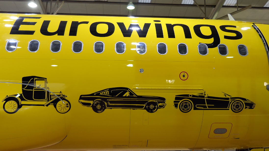 """Eurowings """"Hertz"""" Special partnership aircraft vinyl wrap by Airline Time-lapses"""