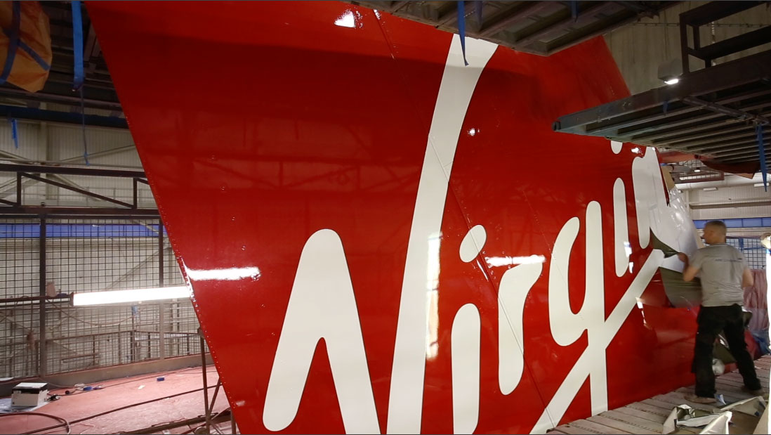 """Virgin Atlantic """"Daydream Believer"""" Tail Reveal by Airline Time-lapses"""